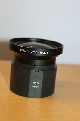RICOH Camera Lens DW-6 0.79X With HA-3 Adapter