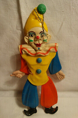 Rolly Toys Western Germany  Hampelmann  Clown Kunststoff 60er Jahre 30 cm