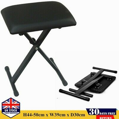 Height Adjustable Keyboard Stand Double Braced Frame Music Piano Chair Bench