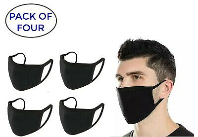 Four Pack - Protective Soft Face Mask - Washable, Reusable ! Protection from Dus