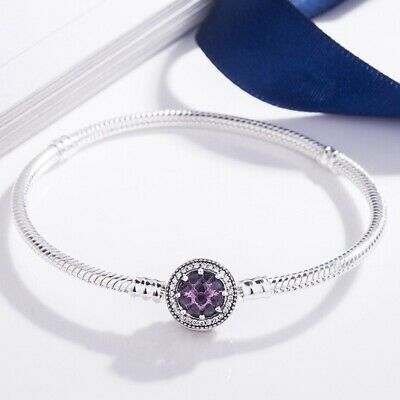 New Charms Bangle Silver Plated Bracelet with Clasp Pandora