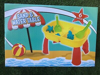 Sand And Water Table Kids Toddler Fun Summer Play With Bubble Gun