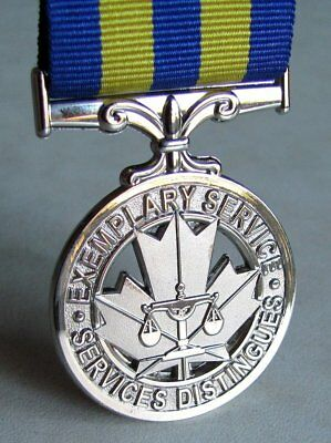Canada - Canadian, PESM  The Police Exemplary Service Full Size Replica Medal