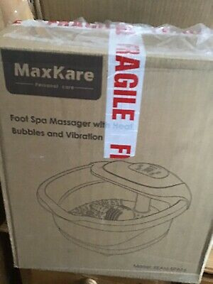 MAXKARE  Foot Spa Massager with Heat,Bubbles and Vibration