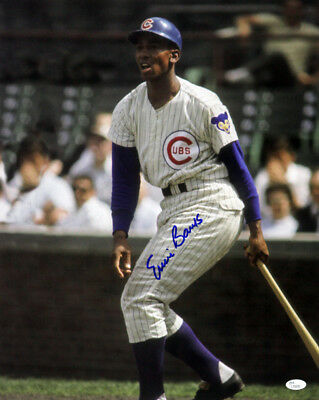 1953-1971 Ernie Banks Chicago Cubs Signed LE 16x20 Color Photo (JSA)