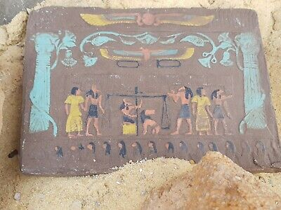 Rare Antique Ancient Egyptian Stela judgement day Gods Anubis Toth Os1760-1650BC