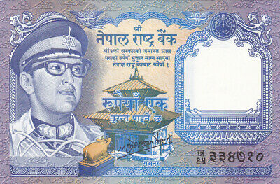 1 Rupee Unc Banknote From Nepal 1974 Pick-22