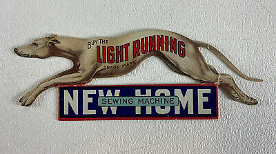 Antique New Home Sewing Machine Light Running Greyhound Trade Card Toledo, OH
