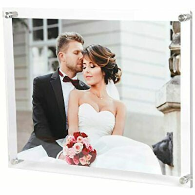 Magicool 11 X 14 Clear Acrylic Wall Mount Floating Double Panels Frameless For