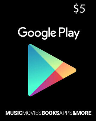 Google Play Gift Card 5$ messages delivery worldwide
