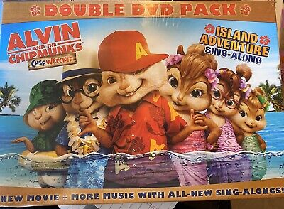 Alvin and the Chipmunks: Chipwrecked + Island Adventure Sing Along 2 DVD SET NEW