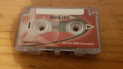 Philips Mini Cassette LFH0005 30 Minutes Tape for Voice Recorders Dictaphone NEW