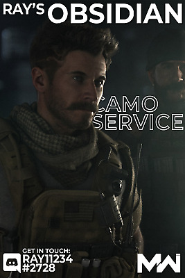 Obsidian Camo Service (ALL Weapons) [PS4|PC|XBOX] Call of Duty: Modern Warfare