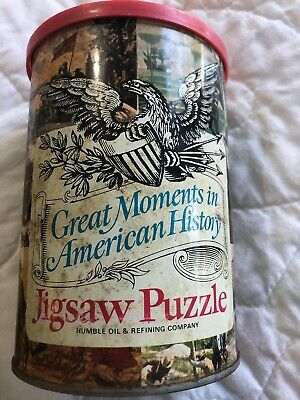 Humble Oil Great Moments In History Jigsaw Puzzle. Unopened!!!'