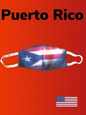 Face Mask PUERTO RICO Pocket For Filter