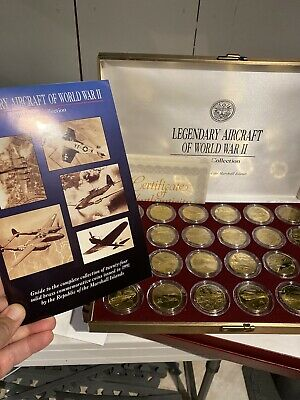 1991 Legendary Aircraft of World War II $10 Coin Collection Marshall Island 24