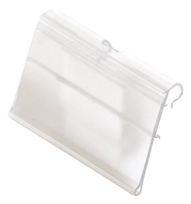 "KC Store Fixtures A01890 Scan Hook Label Holder, 1-1/4"" Height x 2-1/2"" Width of"
