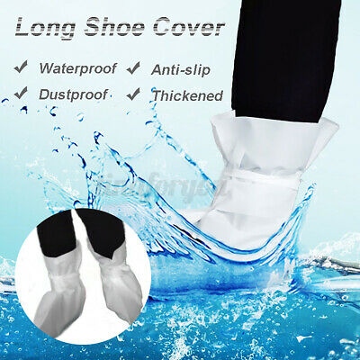 White Disposable Shoe Cover Anti Slip Cleaning Overshoes Boot Non-woven Fabric