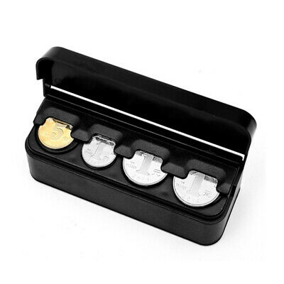 Automatic Coin Capsule Organizer Storage Coins Holder Auto Coin Box Holder Case