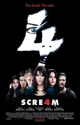 Scream 4 movie poster  (a) Wes Craven, Horror  -  11 x 17 inches,  Scream poster