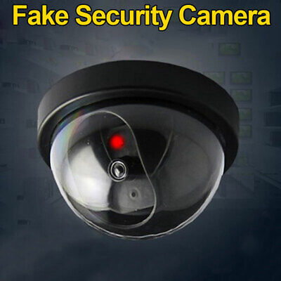 Fake Dummy CCTV Security Camera Simulated Dome Dummy Camera with Flash LED Light