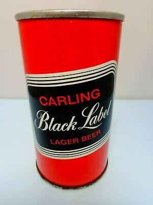 Carling Black Label Lager Straight Steel Pull Tab Beer Can #227   Canada