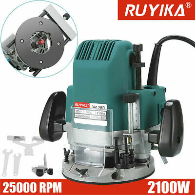 "RUYIKA 2100W HEAVY DUTY 1/2"" Electric Plunge Router Hand Trimmer Wood Laminator"