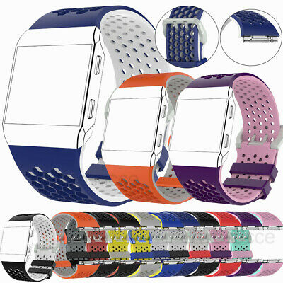 Silicone Watch Strap Bracelet Wrist band Buckle For Fitbit Ionic Fitness Tracker