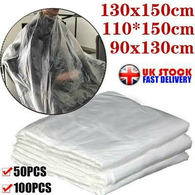 50/100X Disposable Salon Barber Gown Hairdressing Cape Hair Cutting Cloak UK