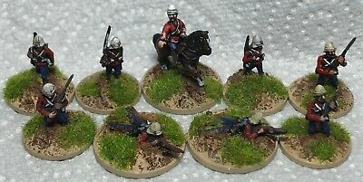 15mm well painted British infantry x9 colonial wargaming Essex miniatures mint