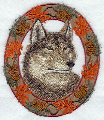 Embroidered Ladies Short-Sleeved T-Shirt - Autumn Wolf E7047 Size S - XXL