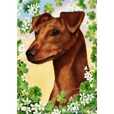Clover House Flag - Uncropped Red Miniature Pinscher 31151