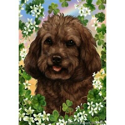 Clover House Flag - Chocolate Cockapoo 31262