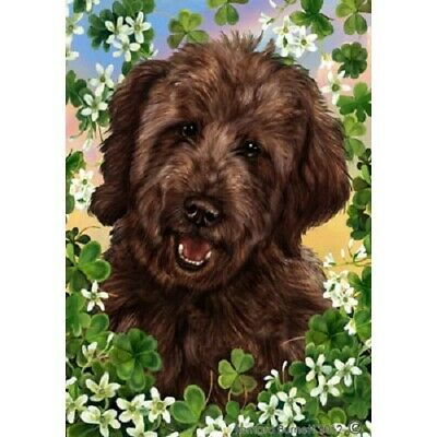 Clover House Flag - Chocolate Goldendoodle  31269
