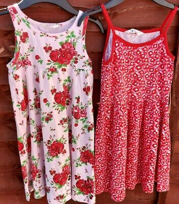2 x H&M girls' patterned jersey dresses age 6-8 years/122-128
