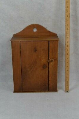 vintage hanging cupboard small 14 in. pine natural hand made replica