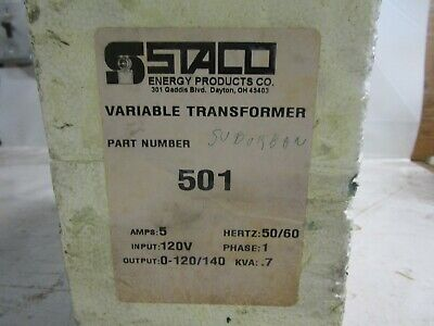 New Staco Variable Transformer 501