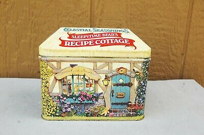 "Celestial Seasonings Recipe Cottage Sleepytime Bear 6"" x5"" x3 1/2"" Tin Box 1998"