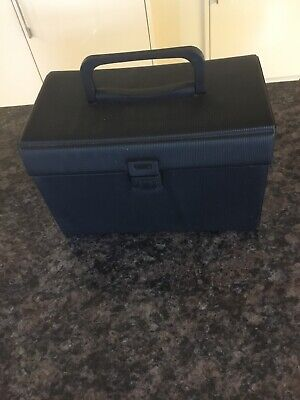 Rare Black Storage Case For Cd Or Ps1 Games Solid In Great Condition