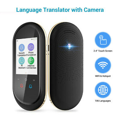 Smart Instant Voice Translator Photo Translation AI Voice Assist WIFI Connected