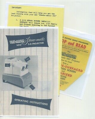 Copy Instruction Manual and Inserts for Stereo-Matic 500 View-Master Projector