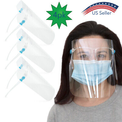 4pk Safety Face Shields with Frames Full Facial Protection Antifog Health Safety