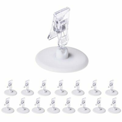 16 Pack Plastic Sign Clip Holder Rotatable Merchandise Sign Pop Display Clip