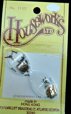 Houseworks 1122 Dollhouse Miniature Butt Door Hinges 1:12 scale