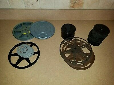 Vintage Lot Of 8 MM And 16 MM Reels And Cans