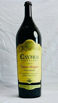 "EXTRA LARGE 3L Caymus Wine Bottle EMPTY for Crafts Decor 3 Liter Litre 19"" Tall"