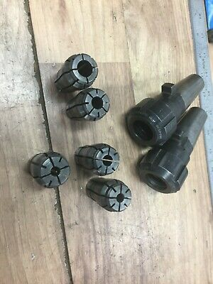 Pair Universal Eng Quick Change Kwik Switch 200 Collet Chucks