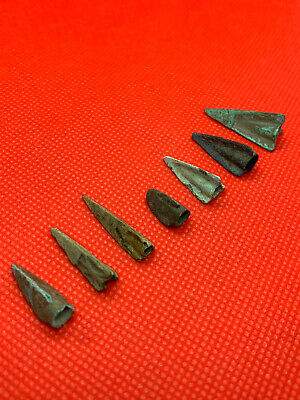 Ancient Bronze Celtic Arrows 7 pieces