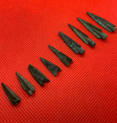 Ancient bronze arrows 9 pieces