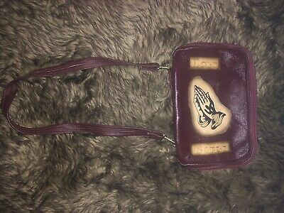 New Brown Real Leather Bible Case With Strap